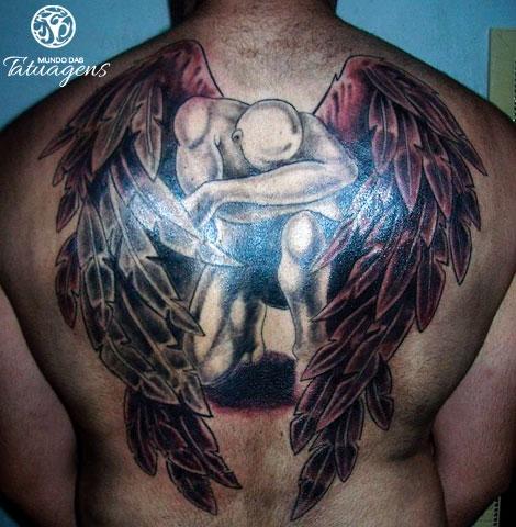 Extremamente 28 Fotos de Tatuagens de Anjo - Mundo das Tatuagens SP07
