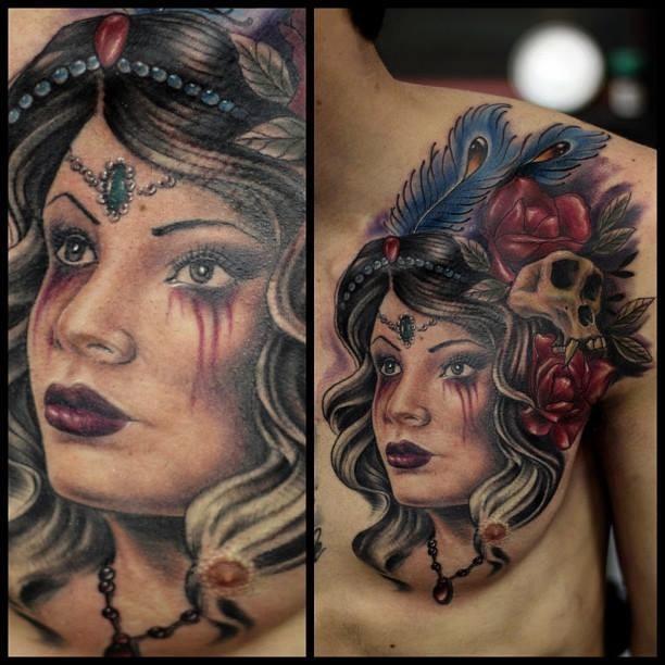 Tattoo no peito - Foto #9422 - Mundo das Tatuagens