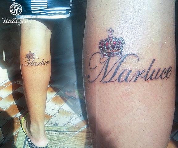 Tattoo de coroa e nome foto 7953 mundo das tatuagens ver clique para ver ampliado altavistaventures Image collections