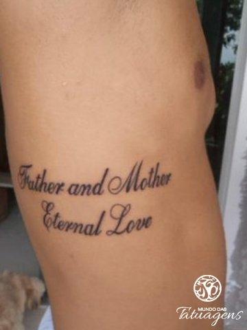 Pai E Mãe Amor Eterno Foto 4096 Mundo Das Tatuagens