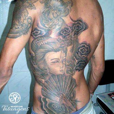 Gueixa Nas Costas Foto 3101 Mundo Das Tatuagens